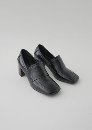 loafer shape bold heel (2colors)