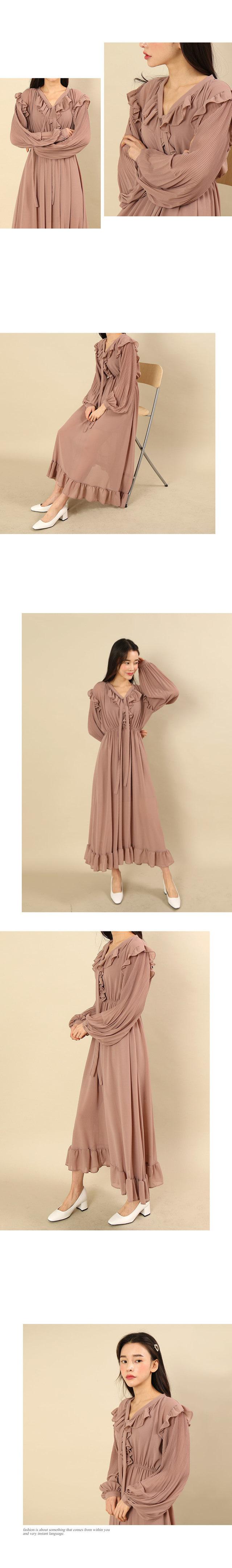 Lovely chiffon long dress SET