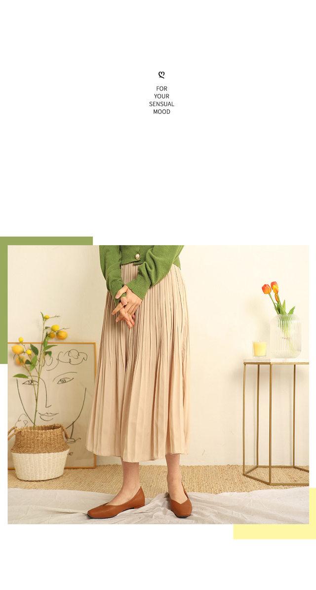 Spring chiffon pleated skirt