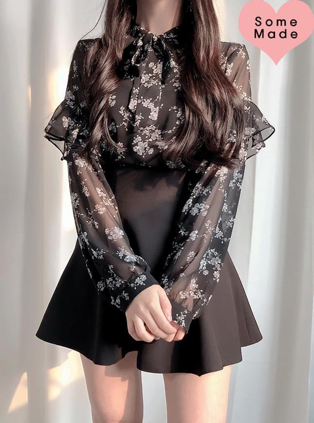 Self-made ♥ Sorry Zebra ruffle blouse
