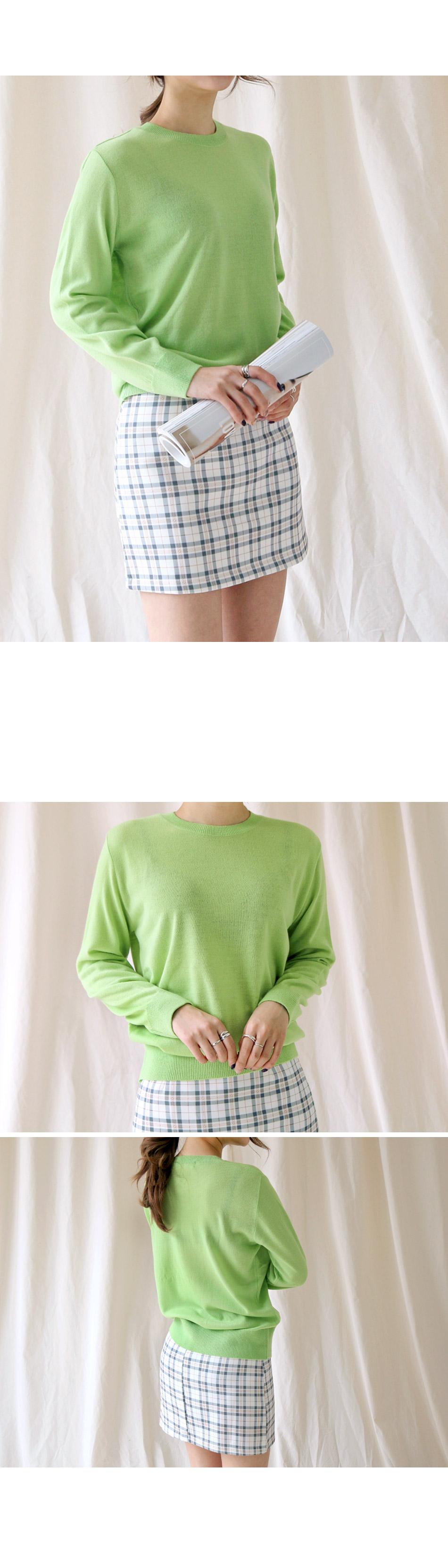 Vivid Round Neck Knit