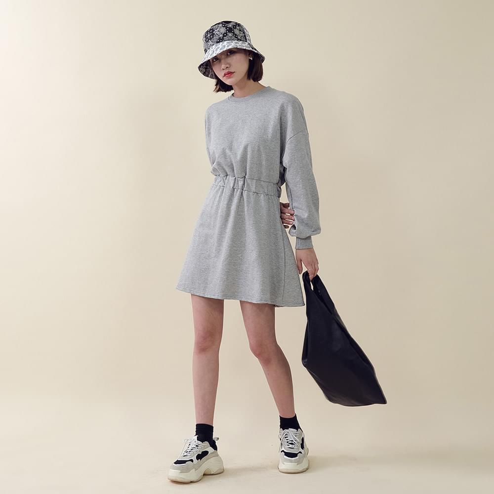 A mini dress