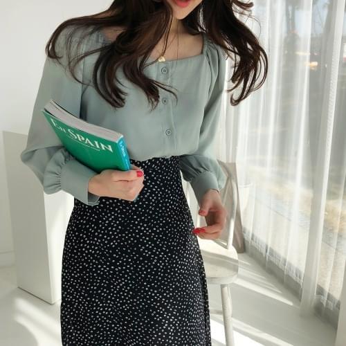 Mint blue blouse