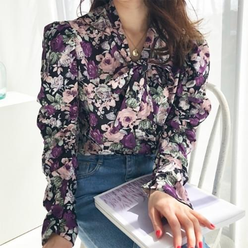 Purple shearing blouse