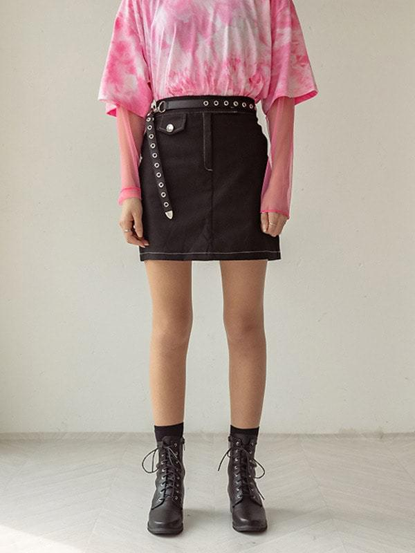 J-Nickel Stitch Skirt
