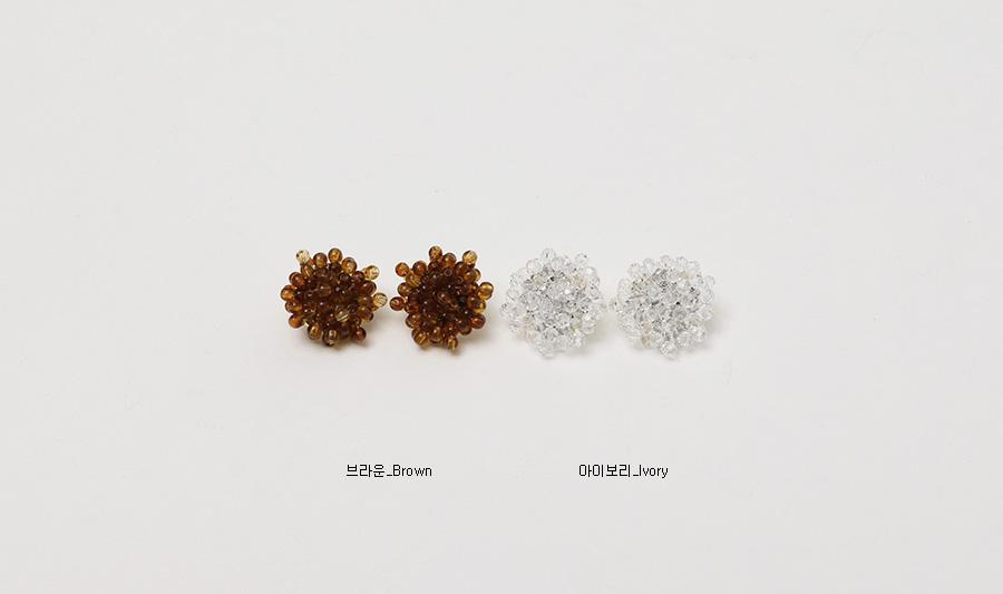Twinkle beads earring_K