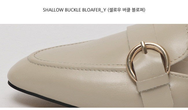Shallow buckle bloafer_Y