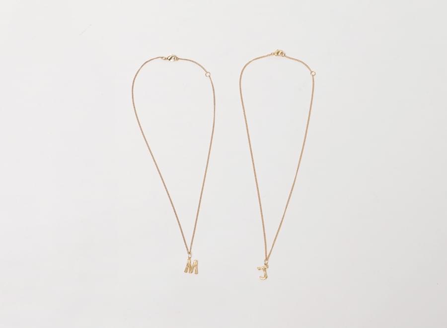 Studio gold lettering necklace_Y