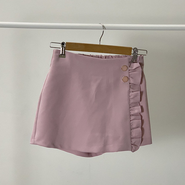 Jelly frilly wrap skirt pants