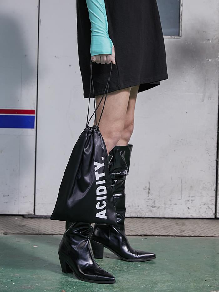 ACIDITY - ACIDITY LOGO STRING BAG (BLACK)