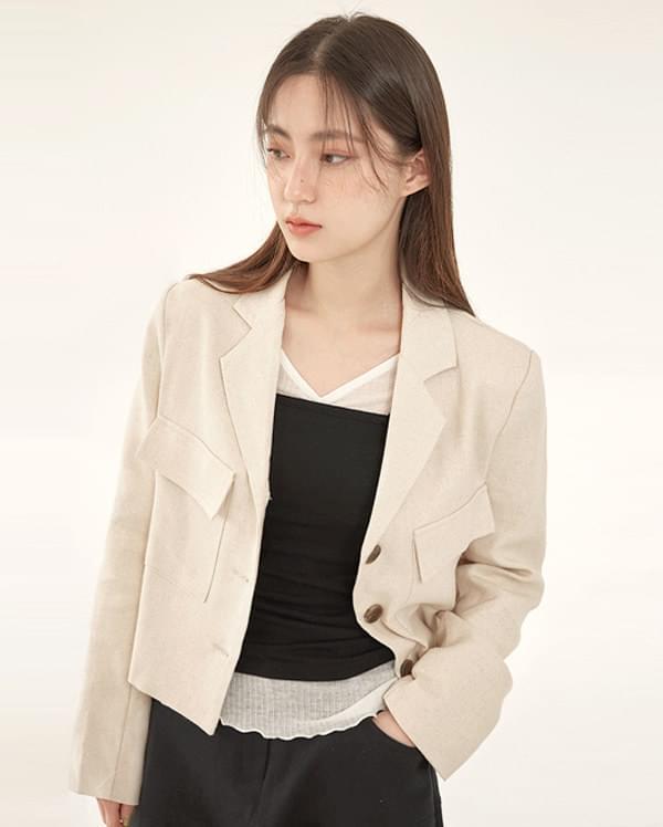 birth linen short jacket