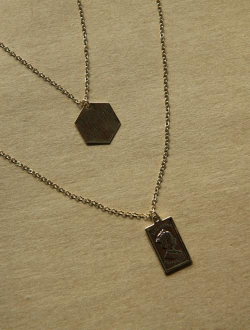 Routine Hexagon Layered Necklace