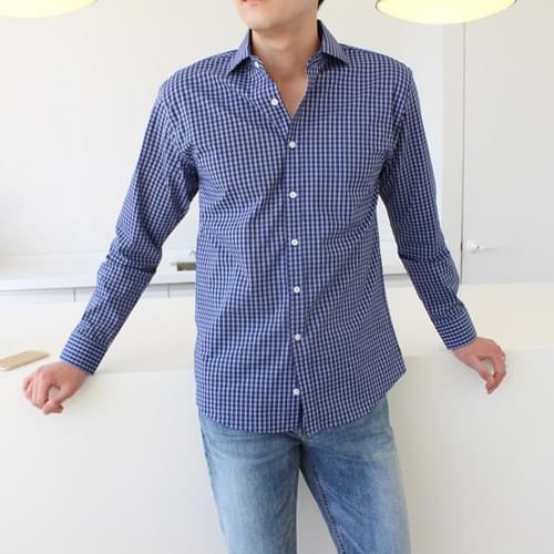 Gentle check shirt ; 2 color
