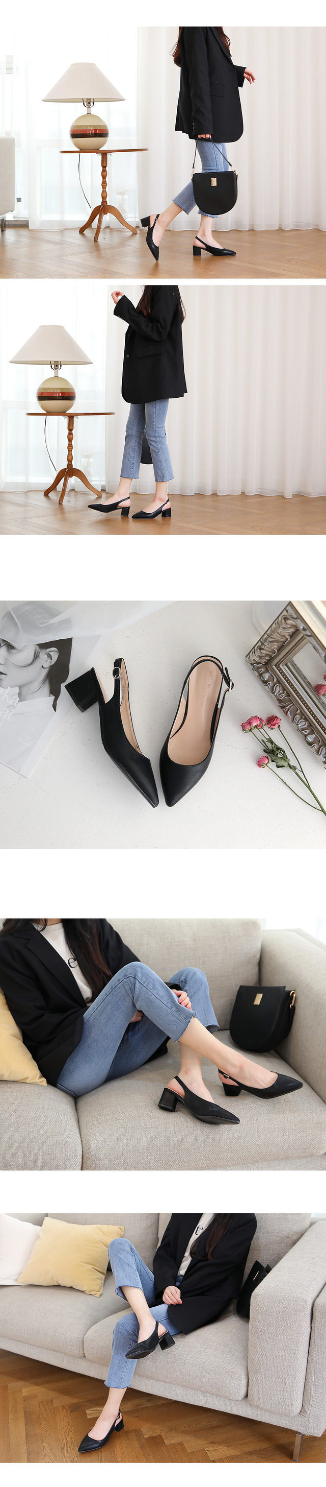 SNS specials third, confession slingback middle heel 5cm