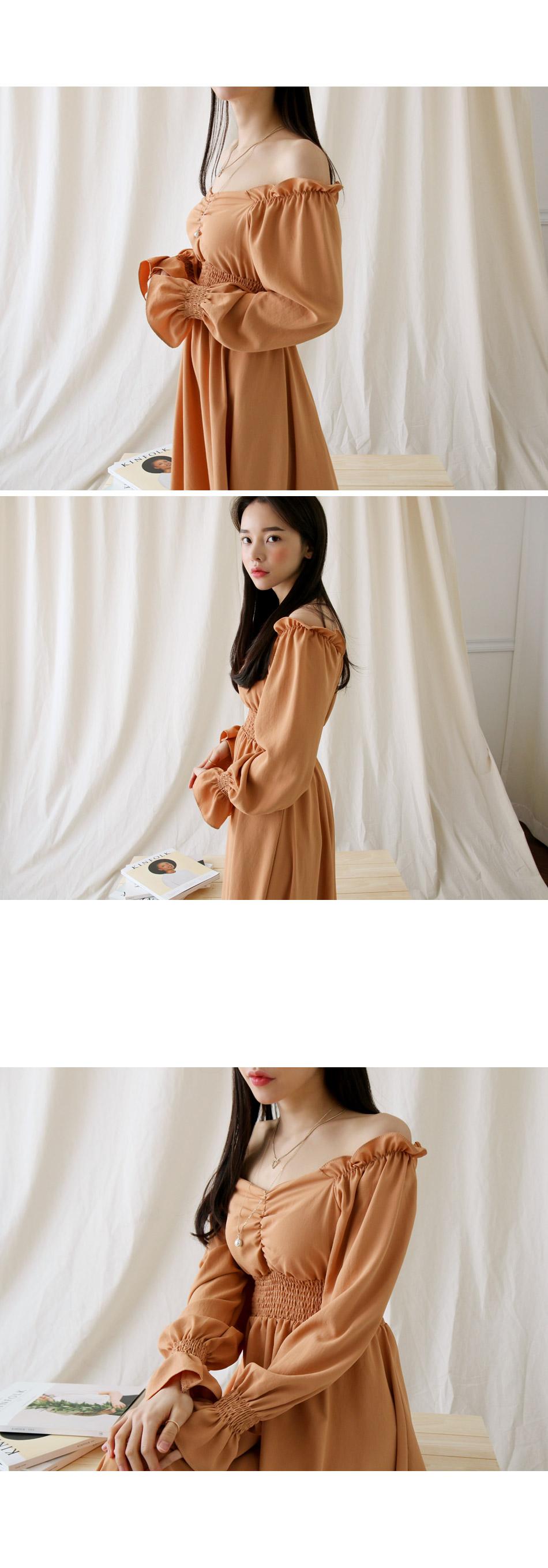 Elise Shirring Dress