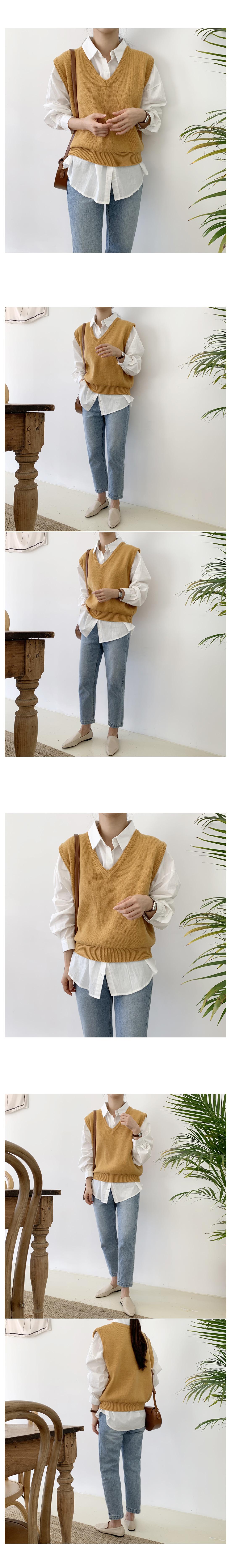 Morse V Neck Knit Vest