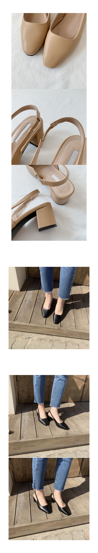 Herringbone middle heel