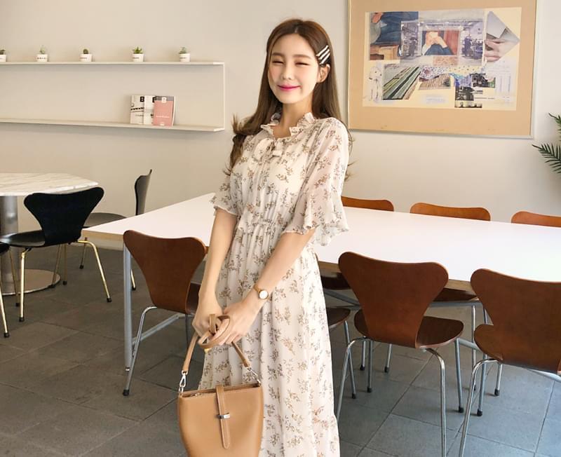 Lucy Flower Chiffon Dress