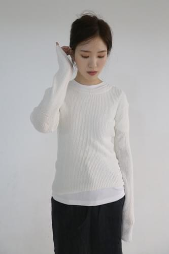 slim round knit (4colors)