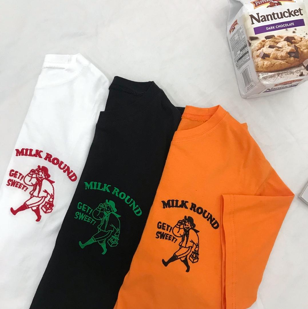 Round Milk Delivery T-shirt