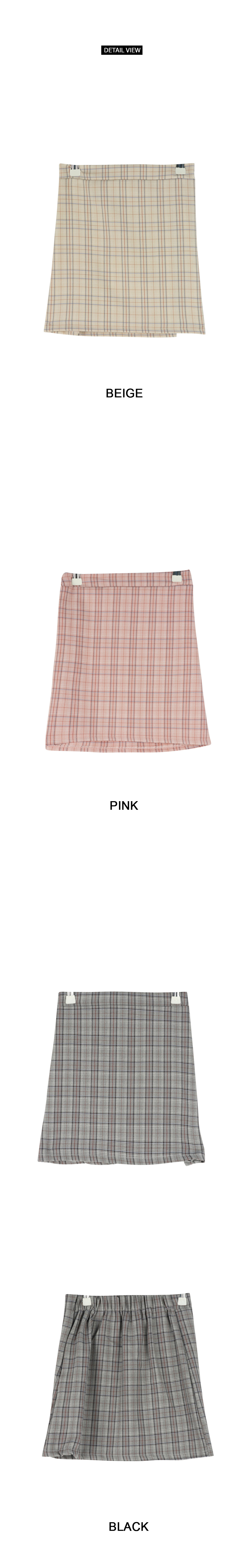 Ashley check bending skirt