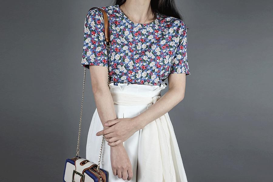 Floral Short Sleeve Polo Shirt _ts03059