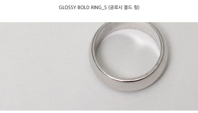 Glossy bold ring_S