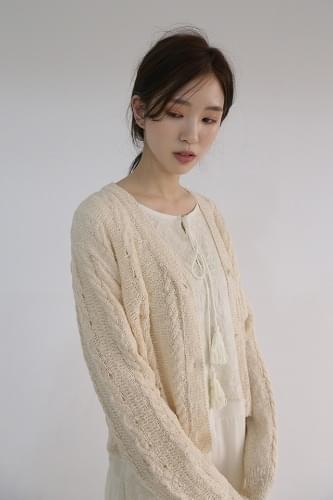 v-neck knitting cardigan (3colors)