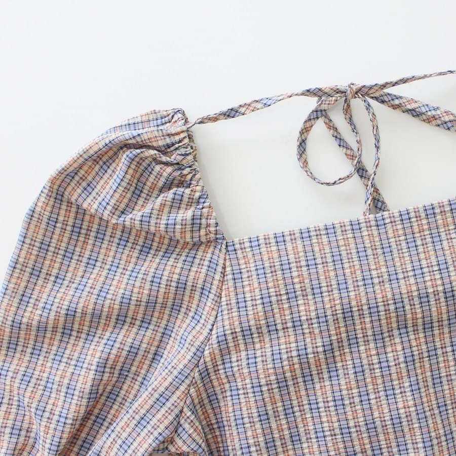 Square Check Blouse