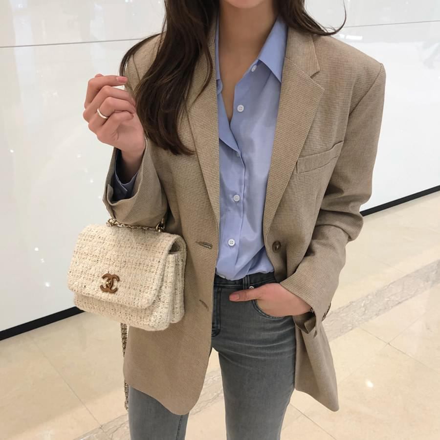 Hirsch check jacket