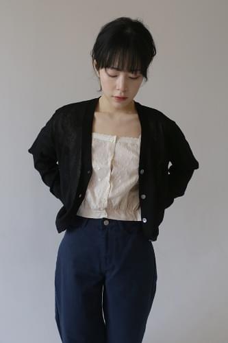 marking linen cardigan (3colors)