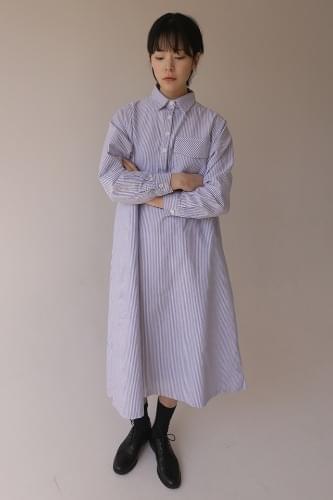 stripe shirt dress (2colors)