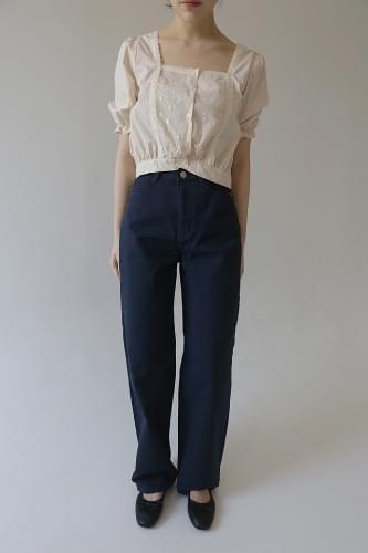 highwaist wide cotton pants (3colors)