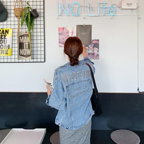 Mago embroidery washing denim jacket
