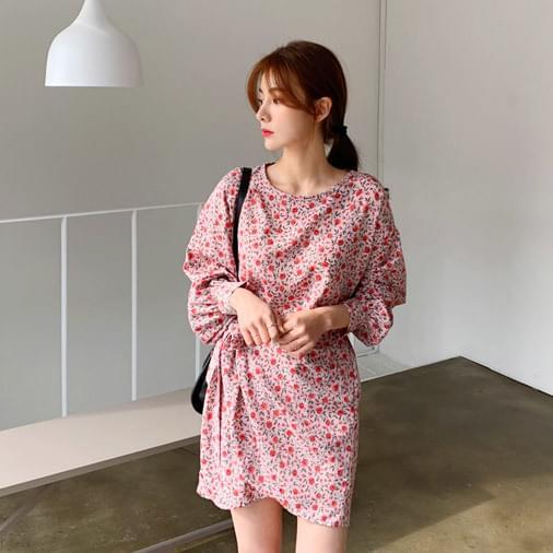 Rose Village Mini Wrap Dress