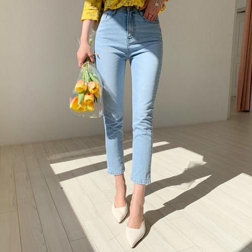 Denim pants with denim pants