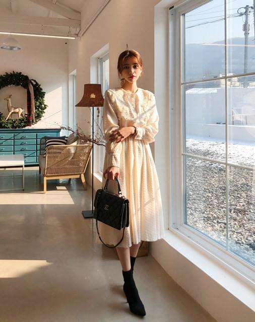 Lace Long Flare Dress
