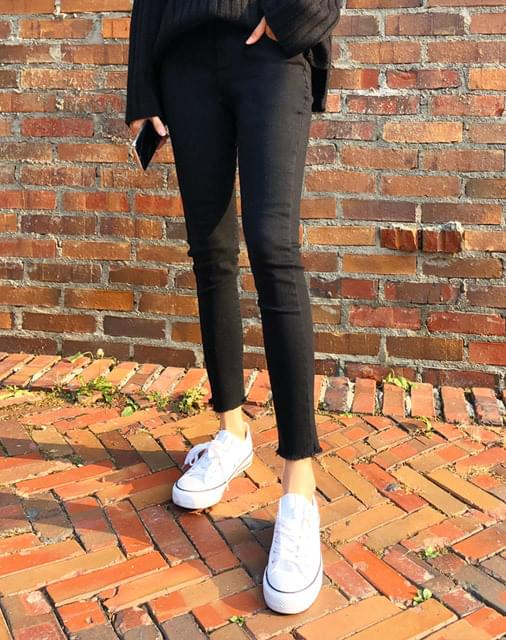 Brushed spans skinny pants -skinny pants