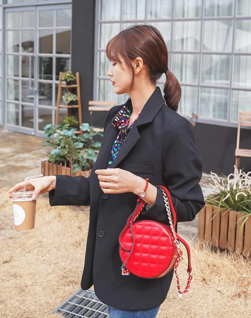 Quilted tambourine bag