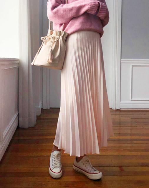 Shirin Long Pleated Skirt