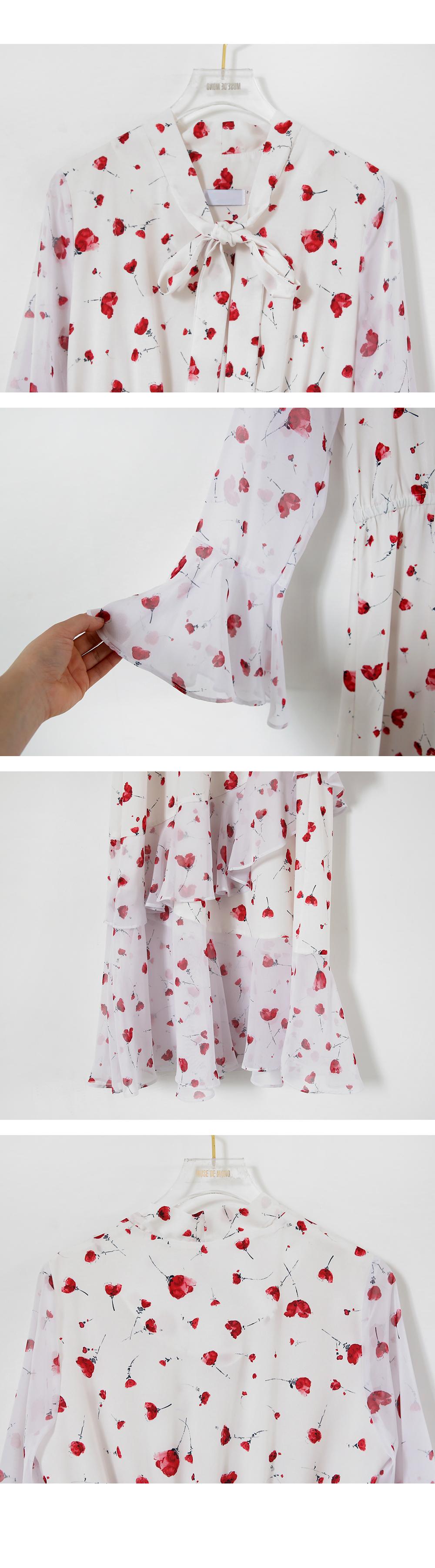 Gloves ruffle dress