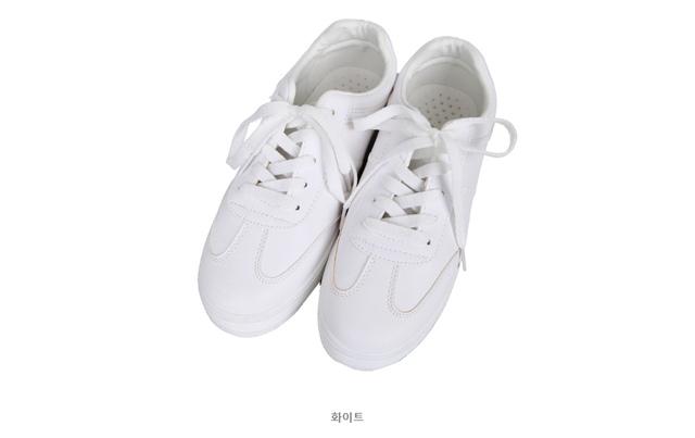Basic plain sneakers
