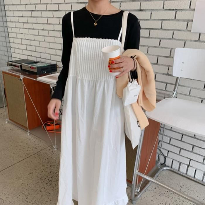 Baby pinch cotton long dress