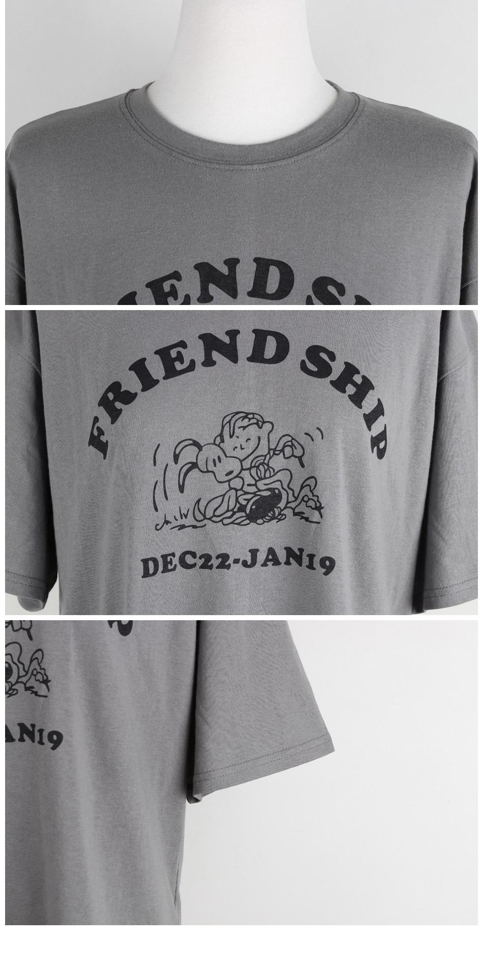 Friend lettering short sleeve tee