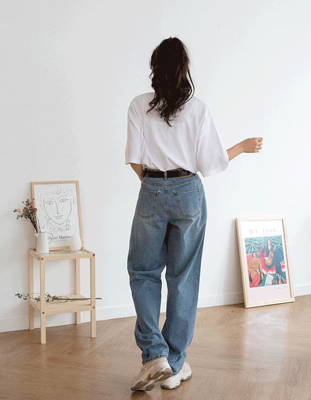 Dirty denim pants