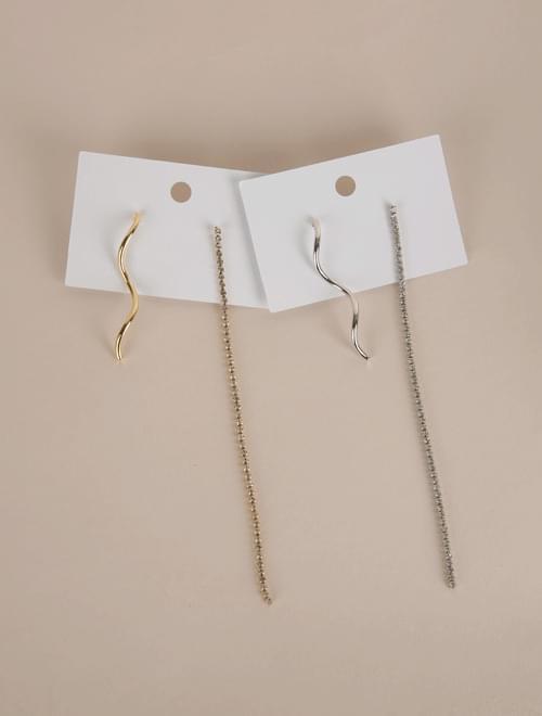 Sharon unbalanced drop earrings