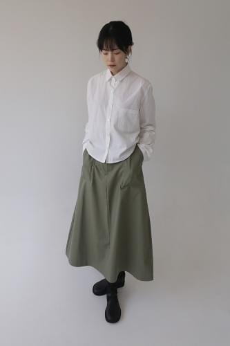 long flare pocket skirt (3colors)