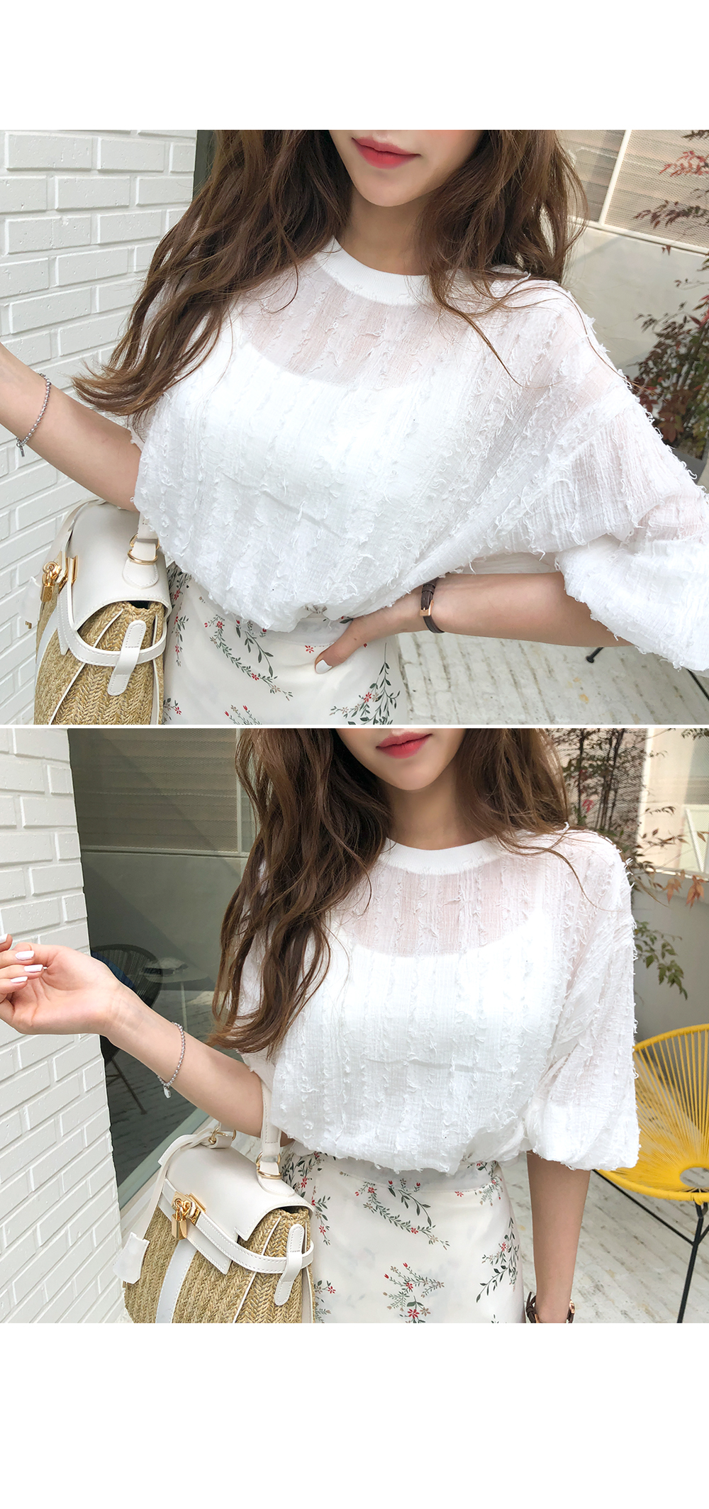 See-through surgical blouse