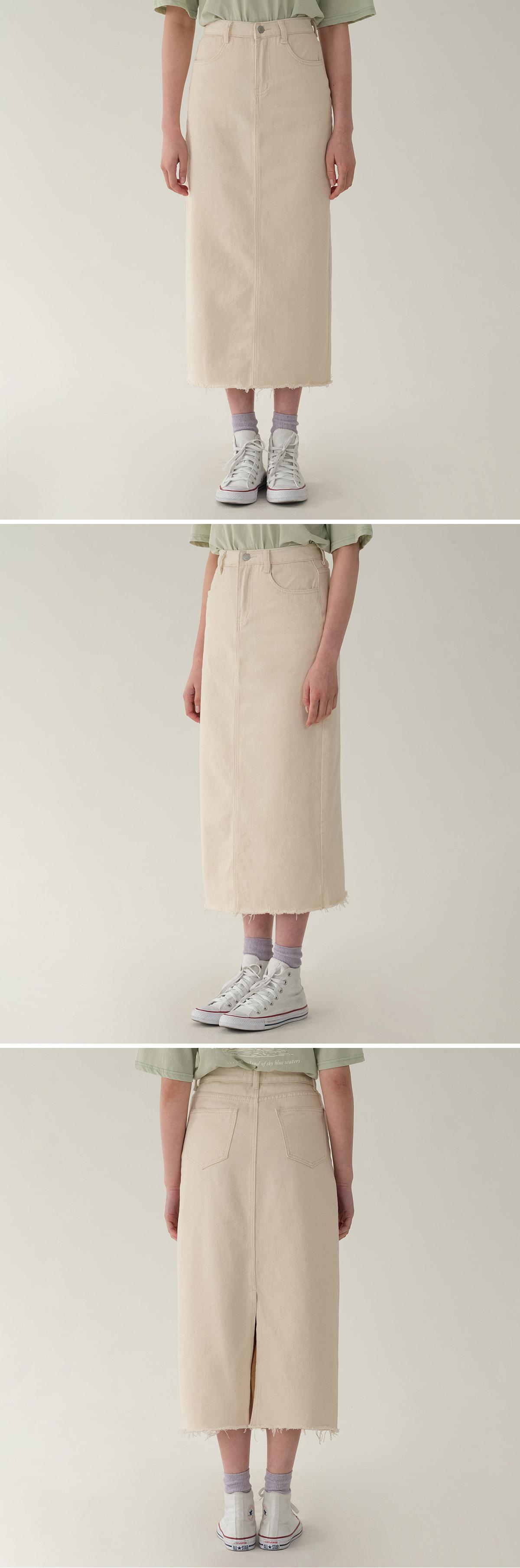 h-line cotton skirt