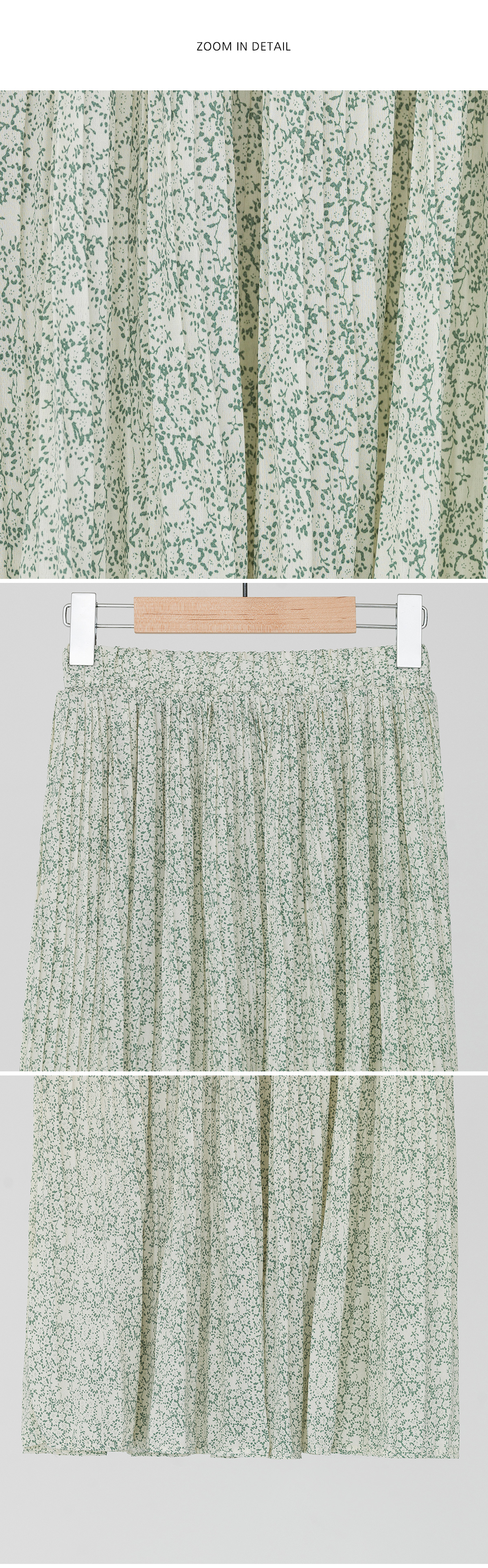 romantic flower pleats skirt